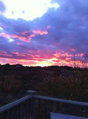 Surfside Nantucket house photo - Sunset off the second story deck...