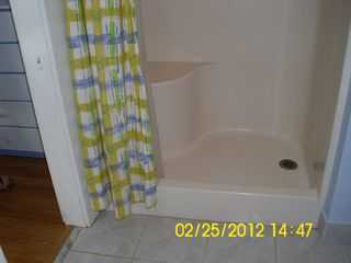 Tybee Island house photo - Blue bath shower