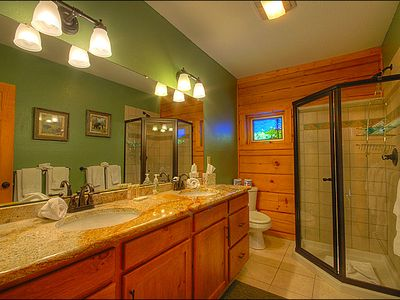 Main Level Bathroom with His and Her Sinks