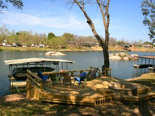 Burnet cottage photo - Updated pic with new waterfront deck and firepit