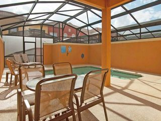 Paradise Palms townhome photo - Private south-facing lanai with pool
