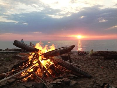 awesome fires and sunsets