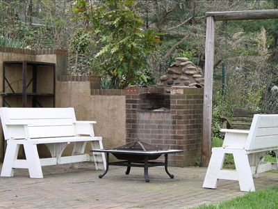 Picnic Area with Brick Grill Overlooking Lake