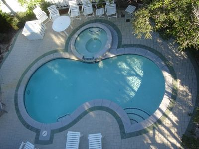 Large pool and patio-very private-lush landscaping