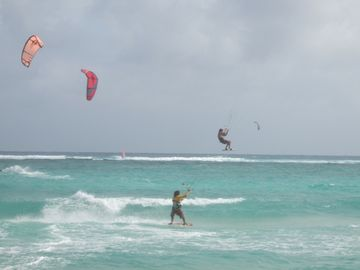 Kitesurfing at nearby Silver Rock