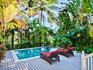 Key West house photo - The pool area is beautifully landscaped.