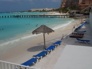Cancun condo photo - View of Beach from terrace