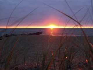 Mashpee house photo - Enjoy the sunset at Private Popponnesset beach!