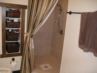 Somers house rental - Master bath walkin shower