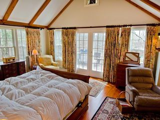 Chilmark house photo - Master Suite Faces South With French Doors That Open To Deck