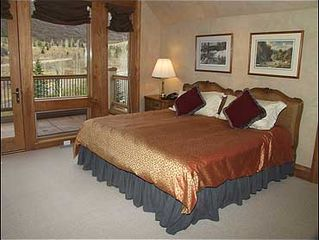 Snowmass Village house photo - Guest Bedroom with King Bed, Bath,TV, Deck
