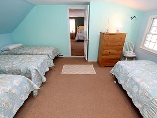 Brewster house photo - Bedroom #2 on 2nd floor with four single beds and skylight.