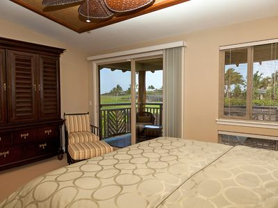 Mauna Lani townhome rental - Note the Exquisite Furnishings in the Master Suite
