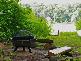 Firepit by the lake for ghost stories and sing alongs! - Union Pier house vacation rental photo