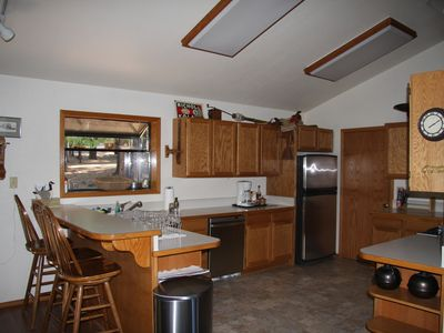 Lake Almanor house rental - And a place for others to watch and keep the cooks company.