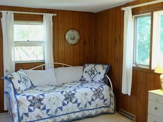 Dennisport house photo - This private den serves as a 4th bedroom and has a daybed, trundle bed and deck.
