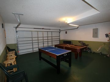 Play Room (Full-size Pool Table and Kids Multi-game Table)