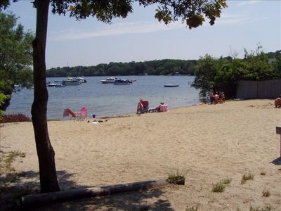 "Private ""Association"" Beach on Wequaquet Lake."