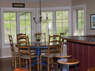 Crystal Mountain, Thompsonville condo photo - Dining Room with a View of the Slopes
