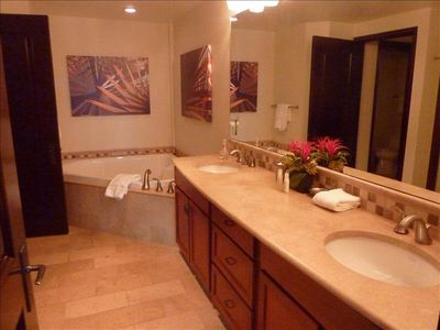 Queen Master Bathroom with large relaxing soaking tub