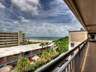 St Pete Beach condo photo - Entrance to condo, great view from common balcony. Private balcony opposite side