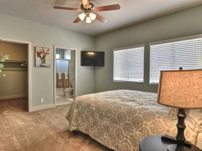 Upstairs queen bedroom with large closet and bathroom.