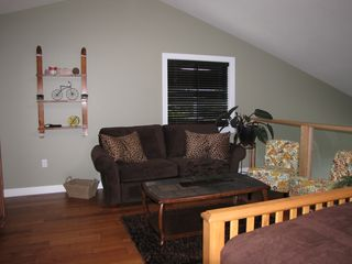 Shuswap Lake townhome photo - open loft lounge also has a double hide abed couch great for kids