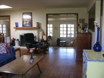 View of Living Room into Sunroom
