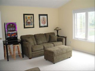 Moneta cottage photo - Upstairs Rec. Room/Additional Sleeping Area & Foosball