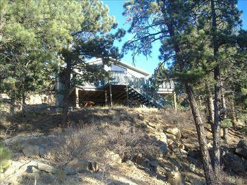 Nestled In The Pines (Mountain Facing) Side Of Home, Treetop Mountain Views