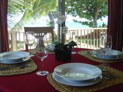 Dine with an amazing beach view