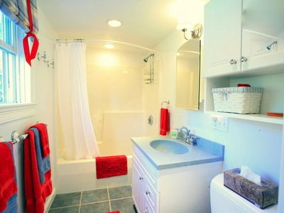 Rockport cottage rental - The cleanest bathroom you'll ever see!