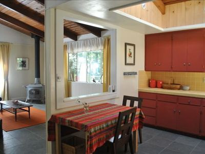 Enjoy a full-size, fully equipped kitchen and fresh herbs from the garden.