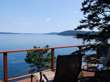 Friday Harbor house rental - Marvelous views of Mt. Baker, boat traffic, and a secluded cove are all yours to enjoy.