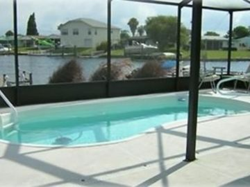 New Port Richey house rental - Your heated screened in pool, out your back door