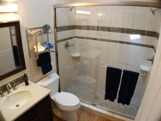 "St. Augustine Beach house photo - ""Sand"" designer bathroom with dual shower heads!"