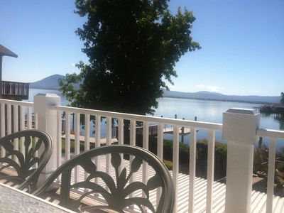 Charming Apartment On Beautiful Clear Lake, Luscious Views, Pool, Boat Dock.