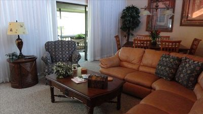 Relax with the family in this comfortable family area