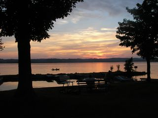 Lake Leelanau cottage photo - Sunset