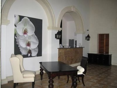 Elegantly furnished main reception area