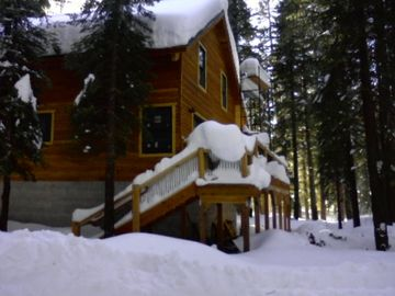 Soda Springs cabin rental - winter scene