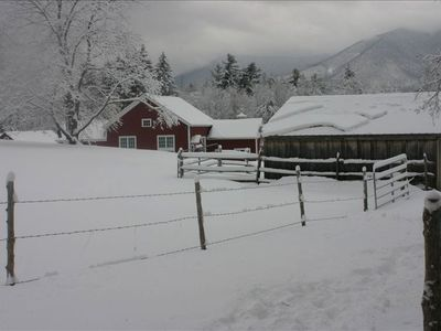 barn view from pasture