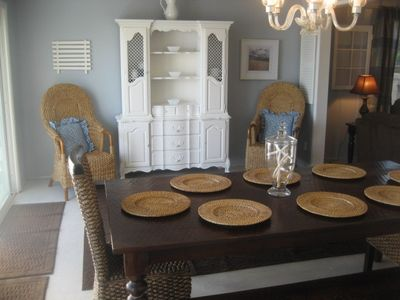 Dining Room opens to beach