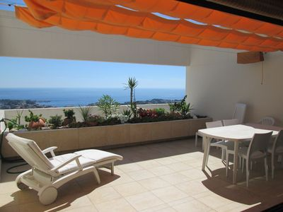 bright apartment sea view terrace residence standing pool