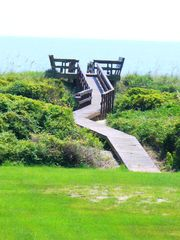 private decked walk to beach - Isle of Palms house vacation rental photo