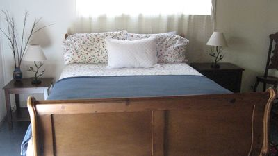 Sleigh Bed in Master Bedroom