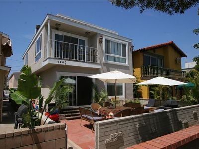 Mission Beach house rental - 1 story on top level with balcony and private roof top deck with ocean view