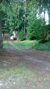 Long driveway to take you back to the private cottage.