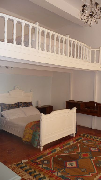 Bedroom with mezzanine