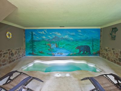 You will love our Indoor private swimming pool located on the lower level of 'Skinny Dipping'